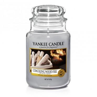 Duża świeca Crackling Wood Fire Yankee Candle