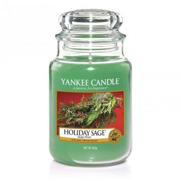 Duża świeca Holiday Sage Yankee Candle