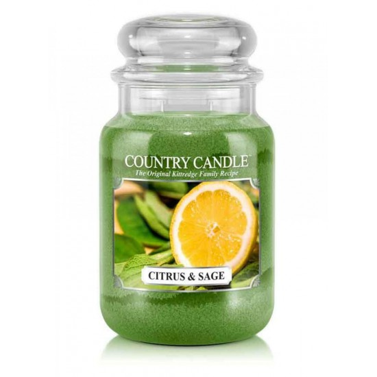 Duża świeca Citrus and Sage Country Candle