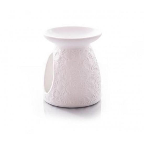 Kominek do wosków Białe kwiaty