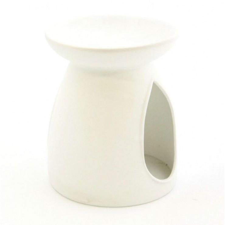 Kominek do wosków Porcelanowy gładki biały