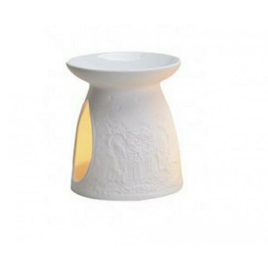 Kominek do wosków Aniołki (biały)