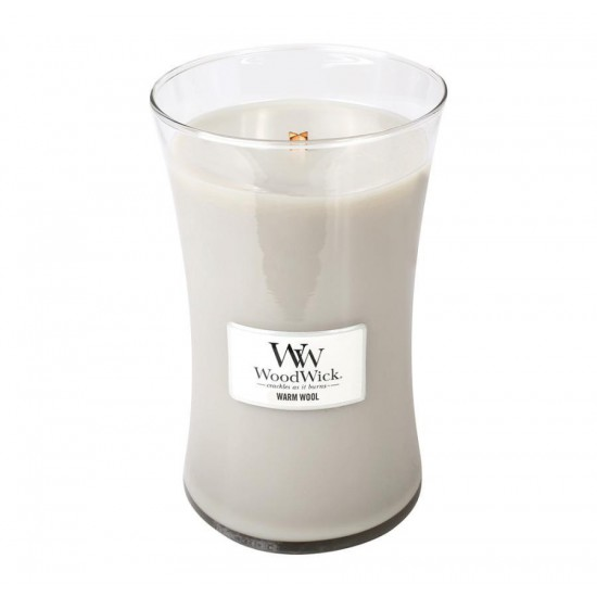 Duża świeca Warm Wool Woodwick