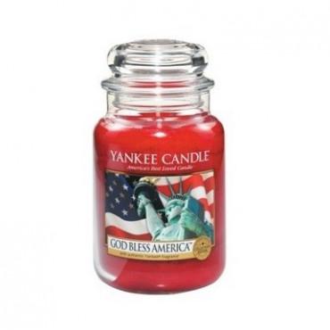 Duża świeca God Bless America Yankee Candle
