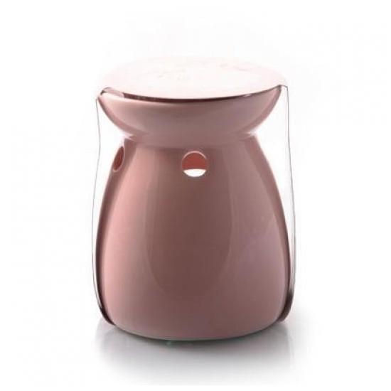 Kominek do wosków Ceramiczny różowy