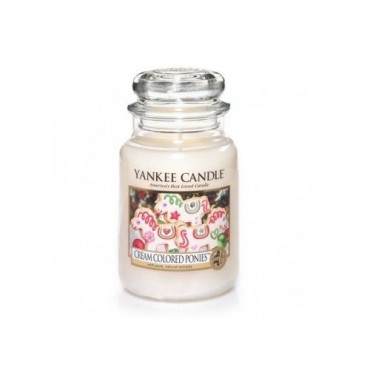 Duża świeca Cream Colored Ponies Yankee Candle