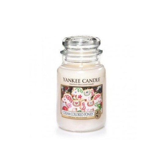 Duża świeca Cream Colored Ponies Yankee Candle