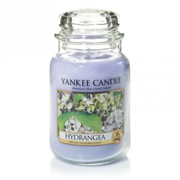 Duża świeca Hydrangea Yankee Candle.