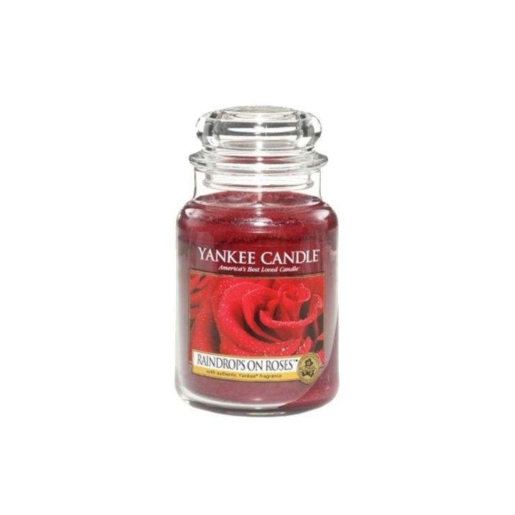 Duża świeca Raindrops on Roses Yankee Candle