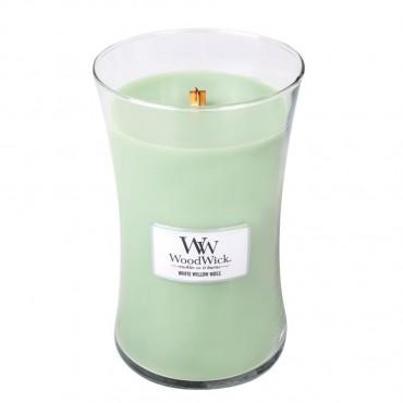 Duża Świeca White Willow Moss WoodWick