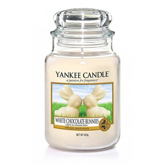 Duża świeca White Chocolate Bunnies Yankee Candle