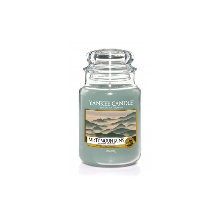 Duża świeca Misty Mountains Yankee Candle