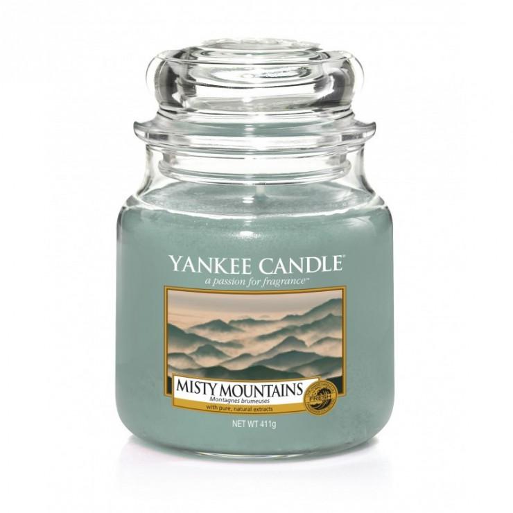 Średnia świeca Misty Mountains Yankee Candle