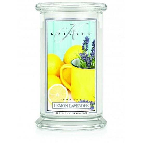 Duża świeca Lemon Lavender Kringle Candle