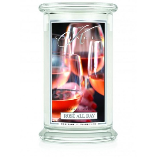 Duża świeca Rose All Day Kringle Candle