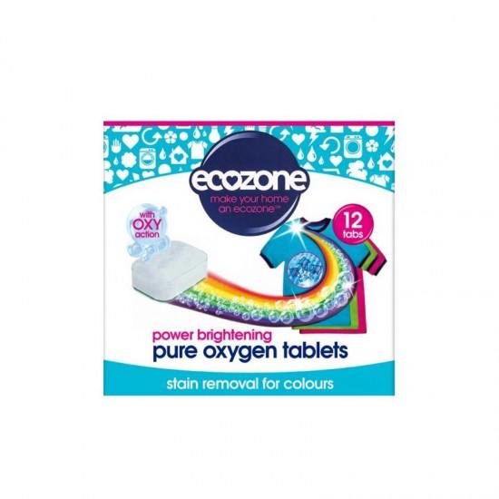 Ecozone Odplamiacz do kolorów Pure oxygen, 12 tabletek