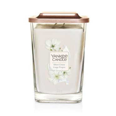 Elevation duża świeca Sheer Linen Yankee Candle