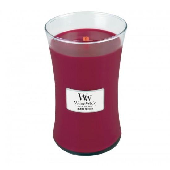 Duża Świeca Black Cherry WoodWick