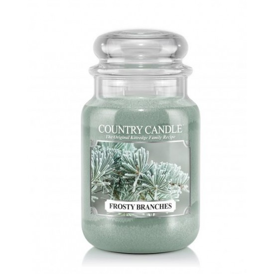 Duża świeca Frosty Branches Country Candle