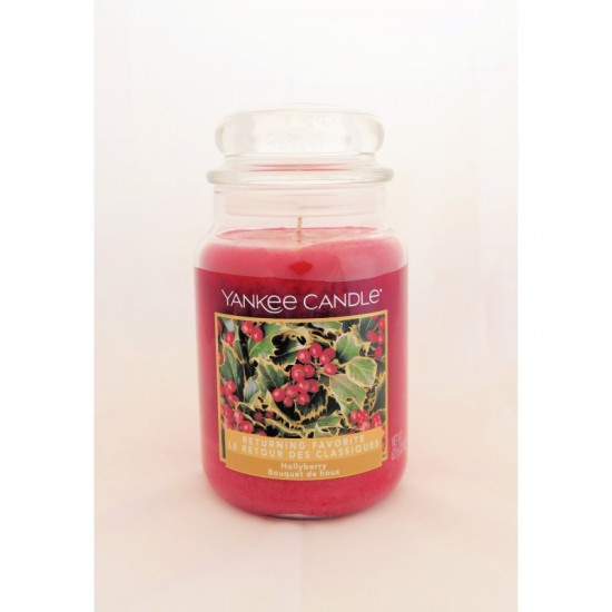 Duża świeca Hollyberry Yankee Candle