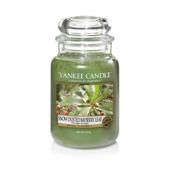 Duża świeca Snow-Dusted Bayberry Leaf Yankee Candle