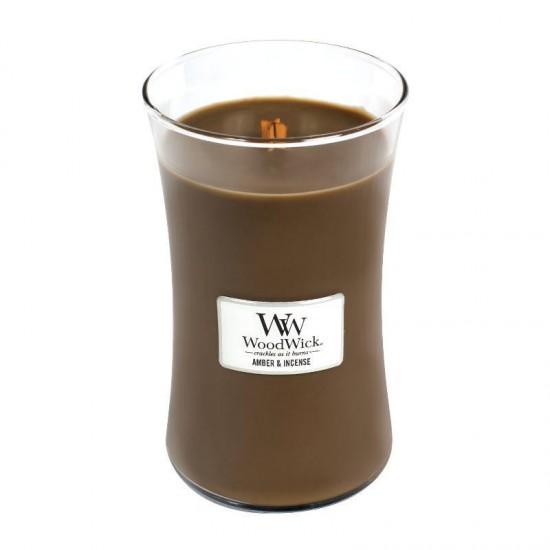 Duża Świeca Amber & Incense WoodWick