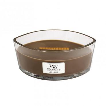 Świeca Hearthwick Amber & Incense WoodWick