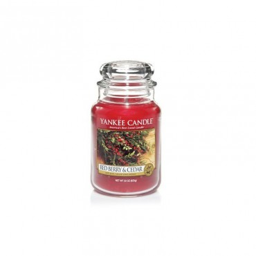 Duża świeca Red Berry & Cedar Yankee Candle