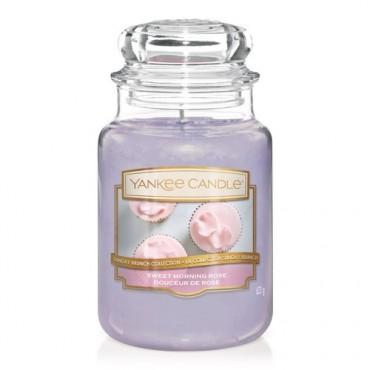Duża świeca Sweet Morning Rose Yankee Candle