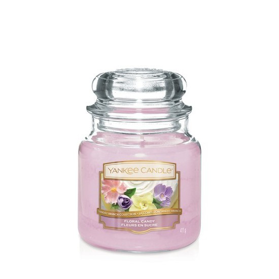 Średnia świeca Floral Candy Rose Yankee Candle