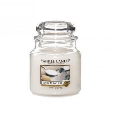 Średnia świeca Baby Powder Yankee Candle