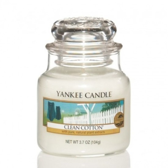 Mała świeca Clean Cotton Yankee Candle