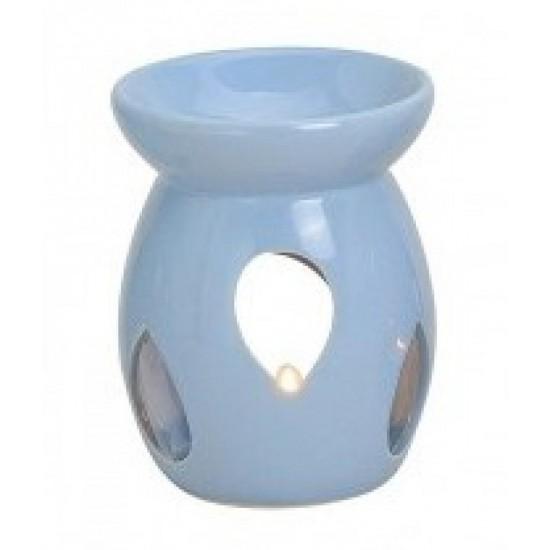 Kominek do wosków z łezką pastelowy niebieski
