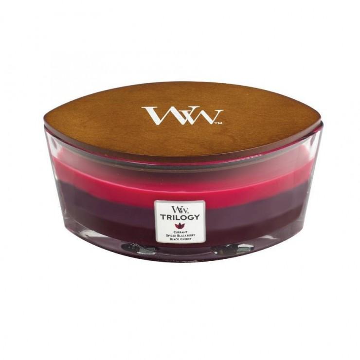 Świeca Hearthwick Trilogy Sun-Ripened Berries WoodWick
