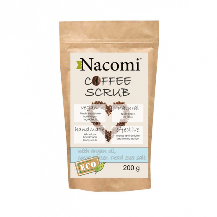 Peeling do ciała suchy kawa 200g Nacomi