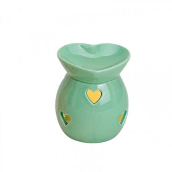 Kominek do wosków Pastelowe serce (zielony)