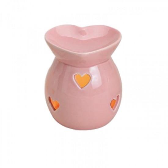 Kominek do wosków Pastelowe serce (różowy)