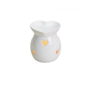 Kominek do wosków Pastelowe serce (biały)