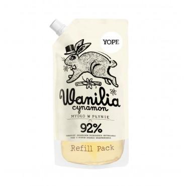 Wanilia i cynamon Mydło do rąk Refill Yope