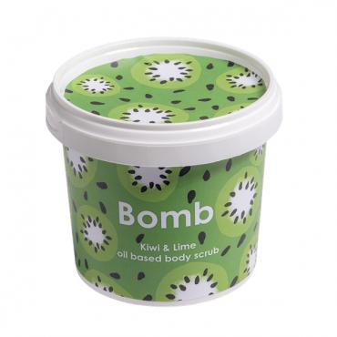 Scrub pod prysznic KIWI i LIMONKA z olejkiem ze słodkich migdałów Bomb Cosmetics