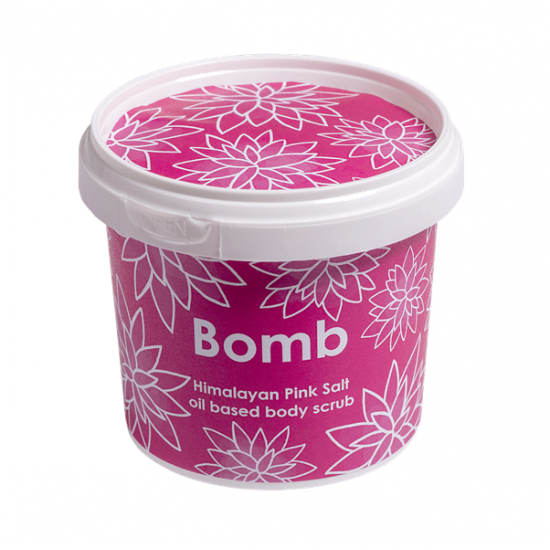 Scrub pod prysznic HIMALAJSKI z olejkiem ze słodkich migdałów i solą Bomb Cosmetics