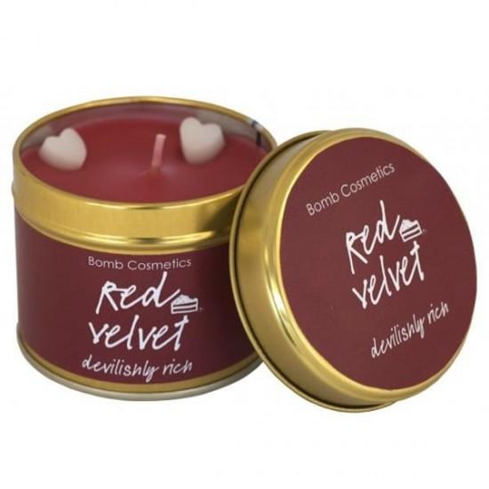 Świeca zapachowa w puszce RED VELVET Bomb Cosmetics