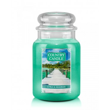Duża świeca Citrus & Seagrass Country Candle