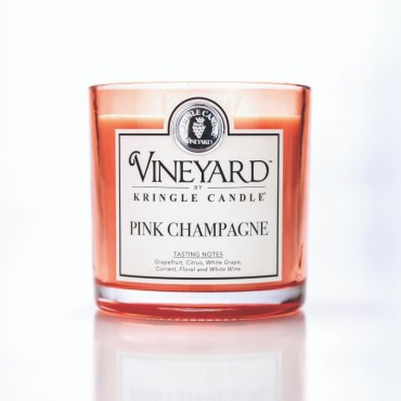 Tumbler Pink Champagne Vineyard Kringle Candle