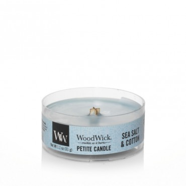 Świeca Petite Sea Salt & Cotton WoodWick