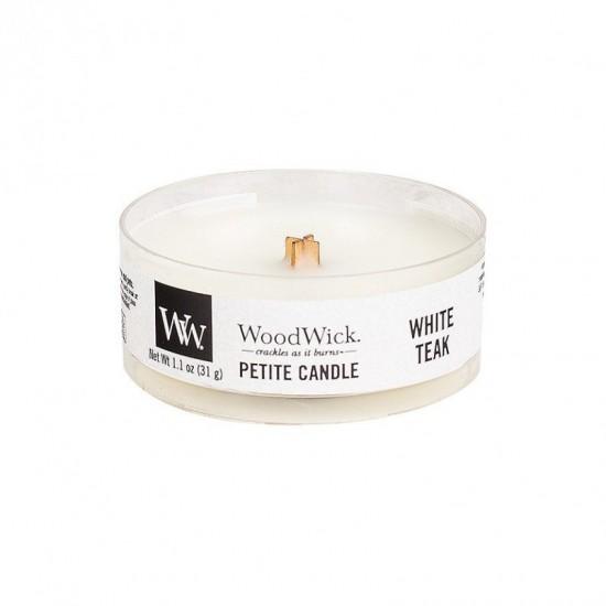 Świeca Petite White Teak WoodWick