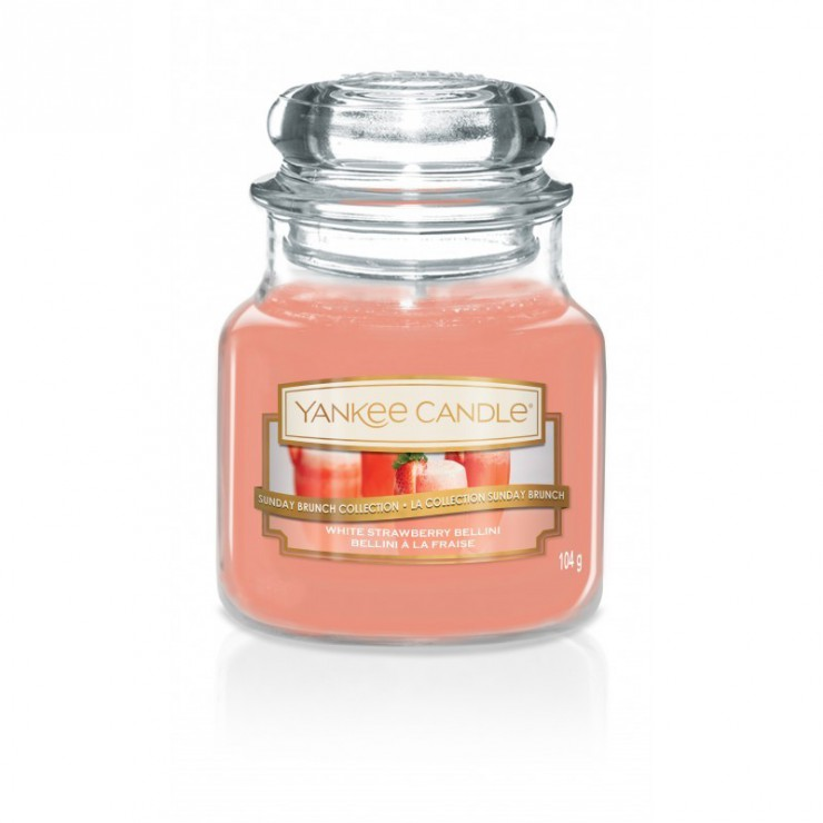 Mała świeca White Strawberry Bellini Yankee Candle