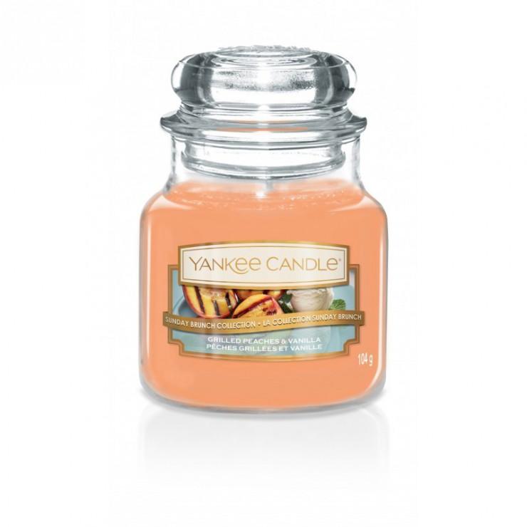 Mała świeca Grilled Peaches & Vanilla Yankee Candle
