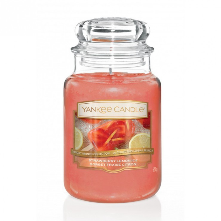 Duża świeca Strawberry Lemon Ice Yankee Candle