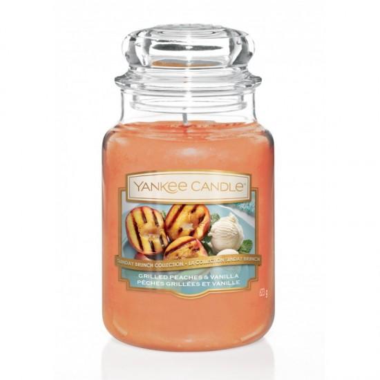 Duża świeca Grilled Peaches & Vanilla Yankee Candle